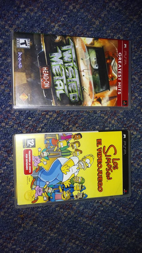 Los Simpson Y Twisted Metal Juegos Umd 100% Originale De Psp