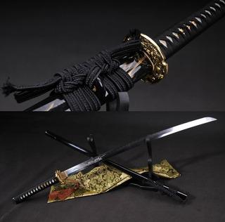 Katana Com Fio Shinken Afiada Forjada Aço Damasco Espada
