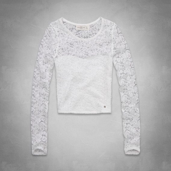 Abercrombie & Fitch Remera De Mujer Trista Cropped Top