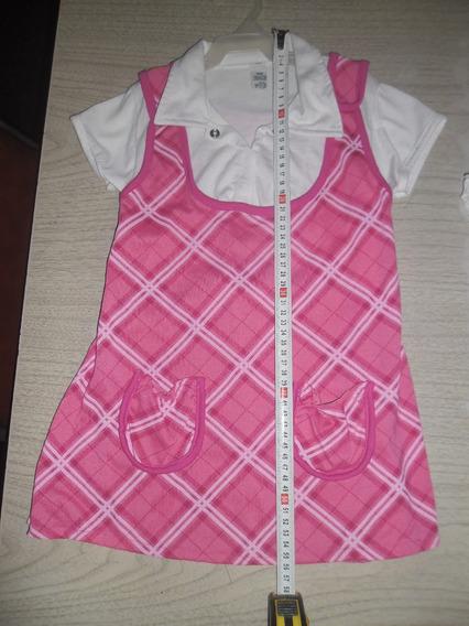 Vestido De Nena Talle 10 Mide 56cm De Largo