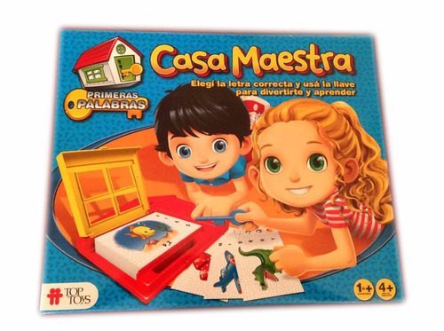 Imagen 1 de 3 de Educando Juego De Mesa La Casa Maestra Primeras Palabras