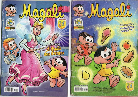 4 Gibis Da Magali Nº Nº 34-35-36-39 Ed Panini Comics Lote106