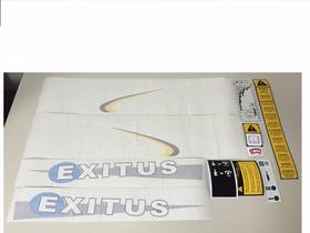 Decalque Faixa Adesiva Trator Ford New Holland Tl 75e Exitus