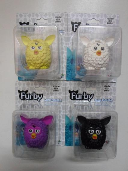 Furby 4 Mini Figuras Amarelo Branco Lilás E Preto - Hasbro.