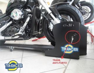 Plataforma Para Moto Tri-racer Trs-8000 Com Trava E Cadeado