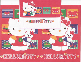 Conjunto Papel De Carta Hello Kitty Antigo - 02