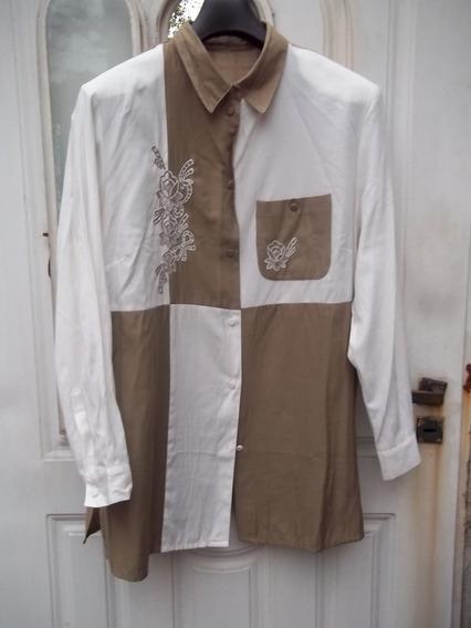 Camisa De Seda Diseño Original Talle G Hermosa! M Pago