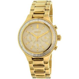 Reloj Dkny Para Mujer Ny2395 Color Dorado En Acero