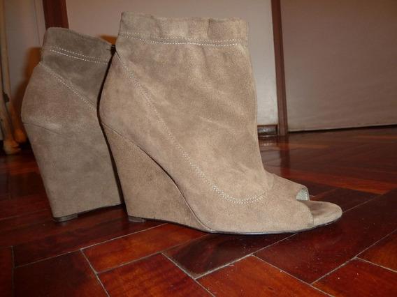 Botinetas De Cuero Gamuzados Zara Talle 40