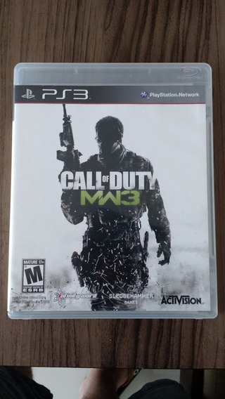 Call Of Duty 3 Modern Warfare Mídia Física Completo Para Ps3