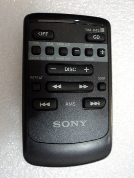 Controle Remoto Sony Original Rm-x43 Compact Disc Changer Sy