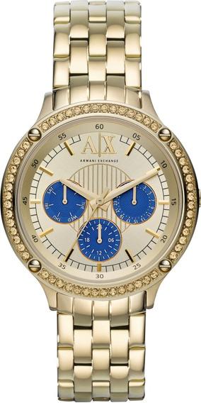 Relógio Armani Exchange Ladies Gold Ax5409