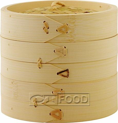Vaporera De Bambu 15cms Cocina Sano Sin Grasa China Japones