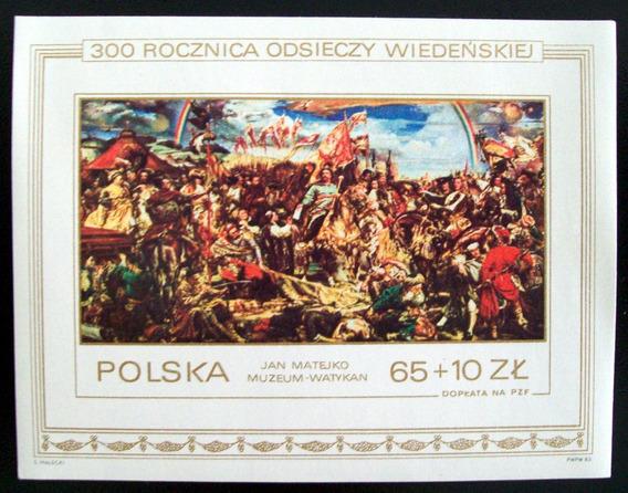 Polonia, Arte Bloque Sc. 2587 Pintura Jan Matejko Mint L6312