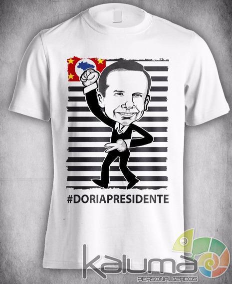 Camiseta João Doria Para Presidente Eu Amo São Paulo #3589