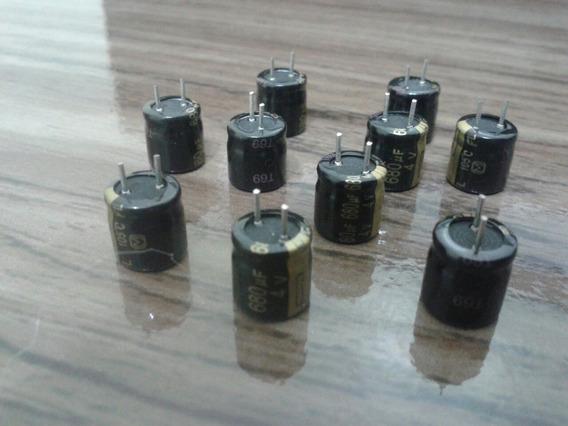 Capacitor Eletrolítico 680uf X 4v 10 Peças Pronta Entrega