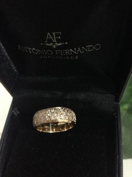 Alianca Em Ouro Amarelo,42 Diamantes De 02 Pts, Chanel.gucci