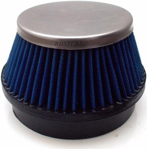 Filtro De Ar Esportivo Azul Bocal De 4 Polegadas Turbo