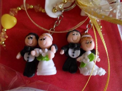 Recuerdo De Matrimonio (solo Novios) Sin El Llavero