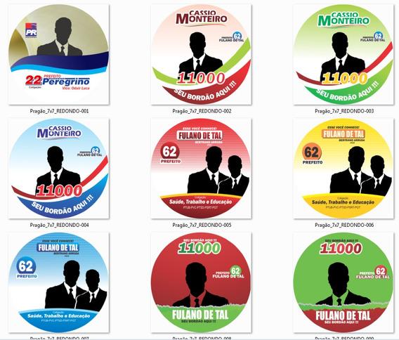 Pragões Políticos Vetorizados 7x7 Cm Logos E Fontes