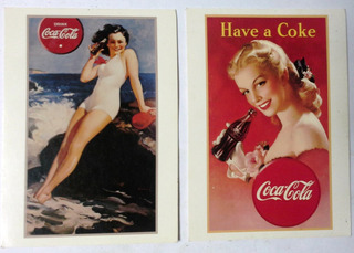 Dos Coleccionables Postales 1991 Pin Up Girls