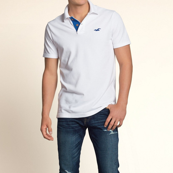 Hollister Polo Camisero Talla L Autentico De Usa