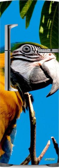 Adesivo Geladeira Papagaio # 35 (porta Duplex)