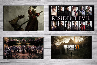 Set 4 Cuadros Gamers Resident Evil Flex C/u 40x30 Cm