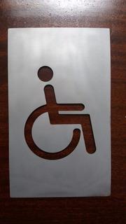Señal Discapacitados Acero Inoxidable Cartel 200mm X 120mm