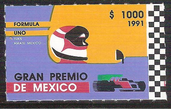 1991 Formula 1 Grand Prix De México Autos Sc 1697 Mnh