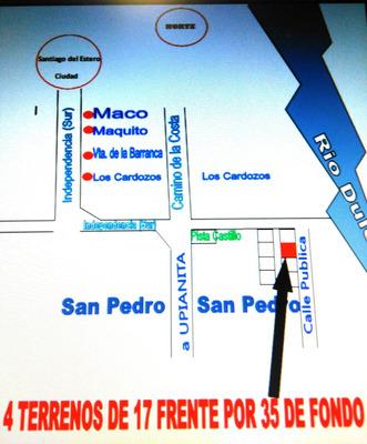 Vendo Terreno En Santiago Del Estero - San Pedro Dpto. Cap.