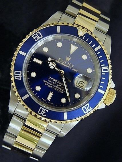 Relógio Pr/água 48 Mm Ceramica / Submariner/automático/c/cx.