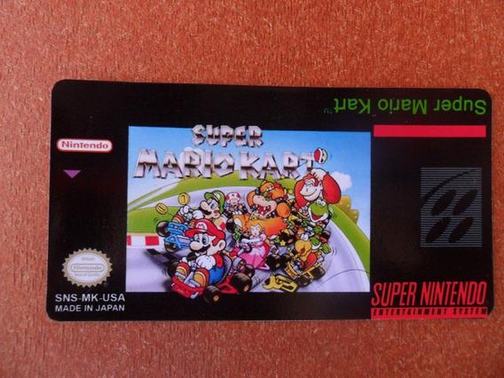 10 Labels - Super Mario Kart - S-nes (tenho Vários Outros)