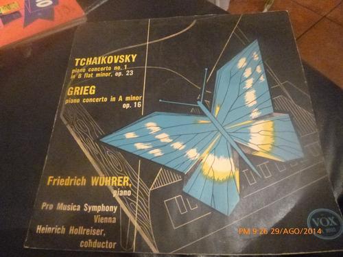 Vinilo Lp  De Tchaikovsky  - Grieg -- Friedrich Wuhrer (u428