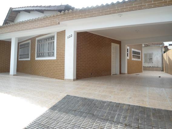 Casa Mongaguá 2 Quadras Da Praia Reforamda, Garagem 4 Carros