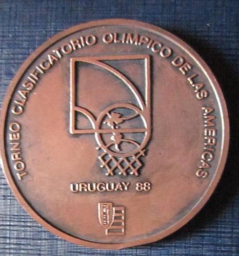 Imagen 1 de 2 de Medallon  Basquetbol Torneo Olimpico De Las Americas Medalla