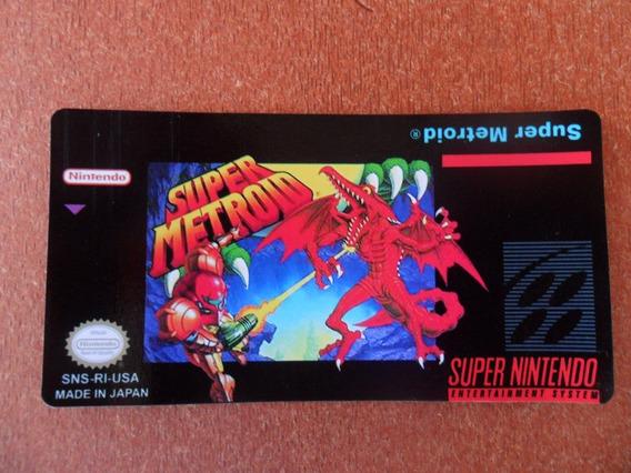 3 Labels - Super Metroid - S-nes (tenho Vários Outros