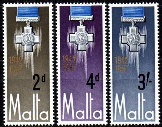 Malta 1967. Cruz De São George (3)