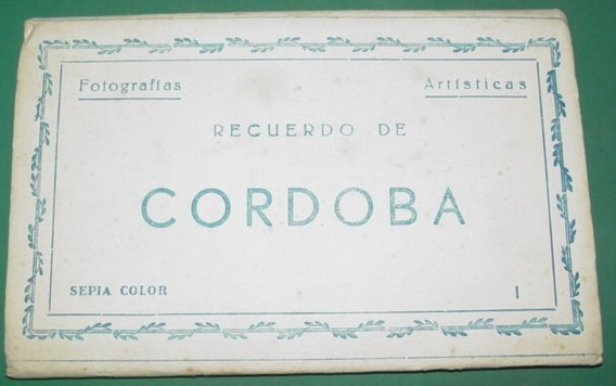 Carnet Postales Coloreadas Antiguas Cordoba España