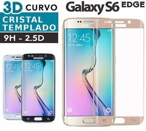 Protector 9h Vidrio Templado Samsung S6 Edge Curvo