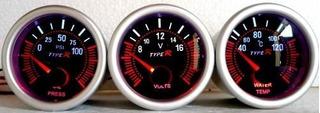 Trio Reloj Type R Voltimetro Presion Aceite Temperatura Jdm