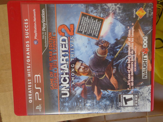 Uncharted 2 Among Thieves Ps3 Mídia Física $29