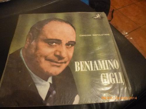 Vinilo Lp De Beniamino Gigli  -- Na Sera E Maggio (u395