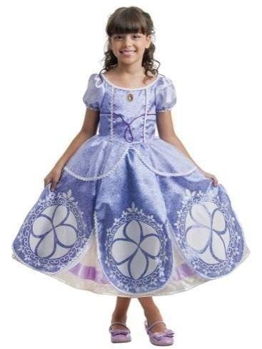Vestido Da Princesa Sofia Original Disney De 1 A 8 Anos