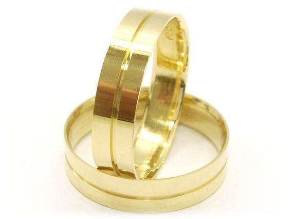 Joianete Par Alianças Em Ouro 18k 5grama Casamento Noivado