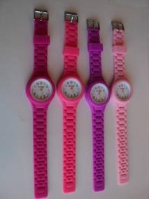 4 Relógios Fashion Importados, Silicone, 120,00 Frete Grátis