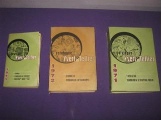 Catalogo Sello Yvert Et Tellier Tomo I,ii Y Iii Filatelia