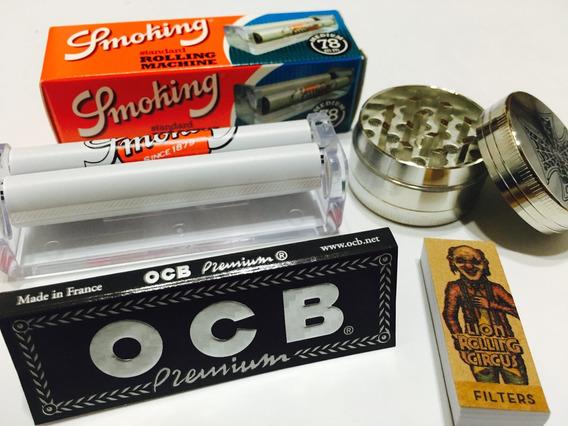 Ocb + Picador De Tabaco + Máquina + Filtros // Promoción //