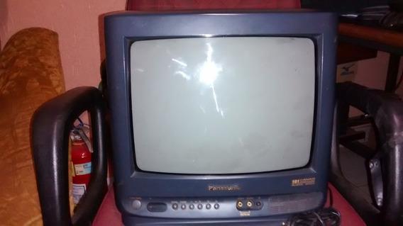 Tv Monitor Panasonic 14 Palm/ntsc Funcionando R$ 149,00