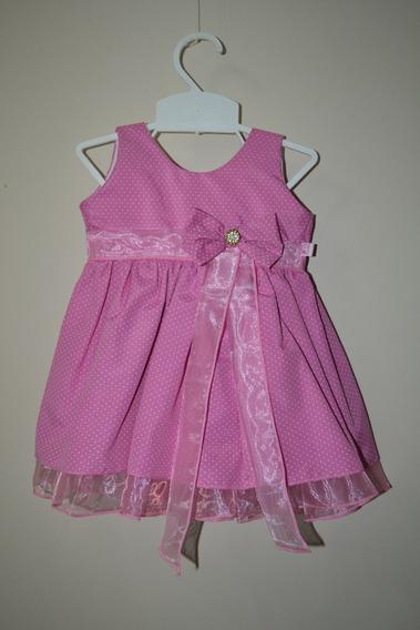 Vestido Bebê Lindo Na Cor Rosa Pink 1